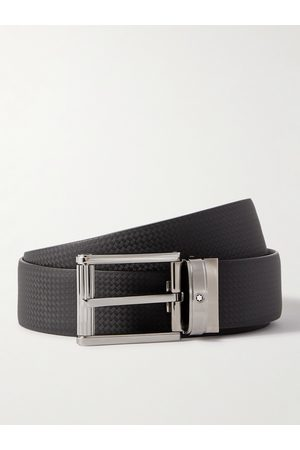 Mont Blanc Heren Riemen - 3cm Textured-Leather Belt