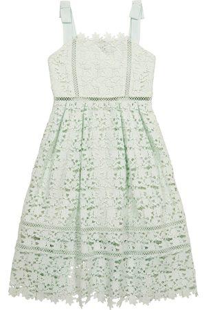 Self Portrait Kids Meisjes Feestjurken - Bow-trimmed lace dress