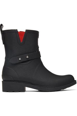 RAG&BONE Dames Regenlaarzen - Black Moto Rain Boots