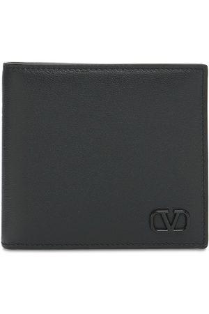 VALENTINO GARAVANI Heren Portefeuilles - Metal Logo & Leather Billfold Wallet