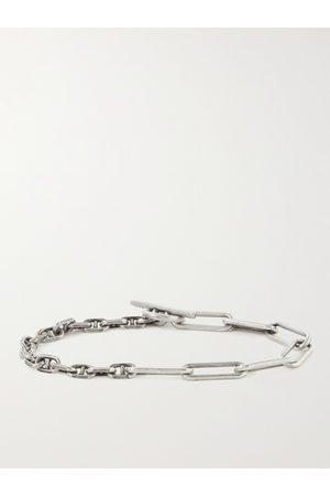 M.COHEN Heren Armbanden - Duo Linka Burnished Sterling Chain Bracelet