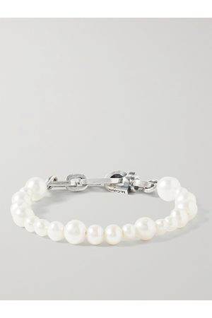 M. COHEN Heren Armbanden - Sterling Pearl Bracelet