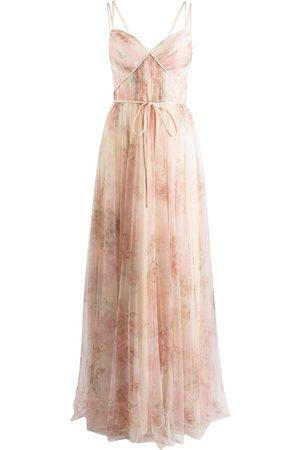 Marchesa Notte Florence floral-print dress