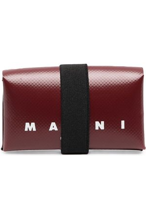 Marni Origami logo-print PVC wallet