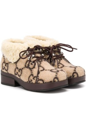 Gucci GG lace-up boots