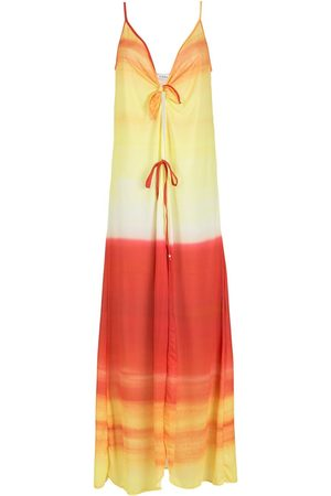 AMIR SLAMA Ombre-effect beach dress