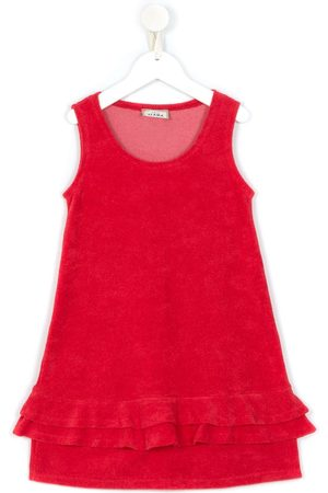 AMIR SLAMA Ruffled sleeveless dress