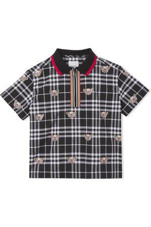 Burberry Thomas Bear check-print polo shirt