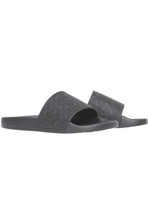 Burberry Perforated monogram open-toe slides