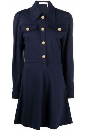 See by Chloé Long-sleeved short shirt dress