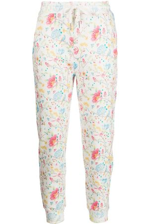 Cynthia Rowley Everly floral-print track trousers