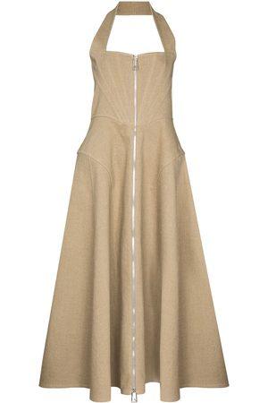 Bottega Veneta Corset-style halterneck midi dress