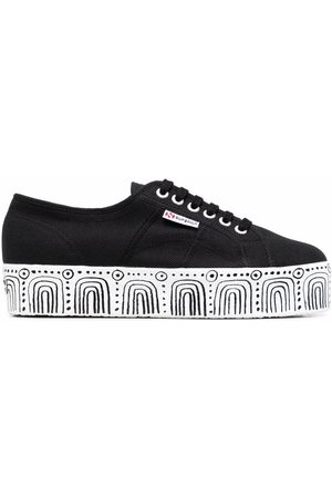Superga Abstract-pattern platform sneakers