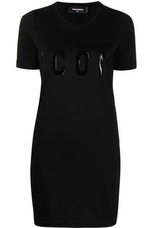 Dsquared2 Dames Jurken - Logo-print shirt dress