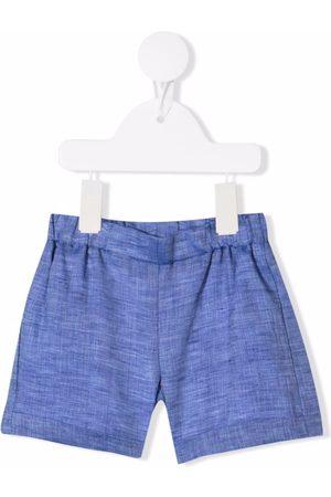 LA STUPENDERIA Cotton-linen blend shorts