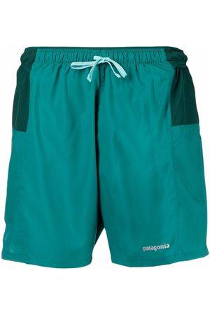 Patagonia Logo drawstring swim shorts