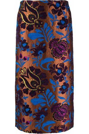 La DoubleJ Patterned-jacquard pencil skirt