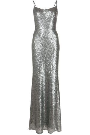 Marchesa Notte Slim-cut sequin gown