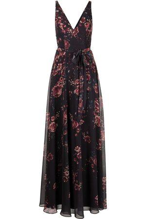 Marchesa Notte Dames Geprinte jurken - Floral-print V-neck sleeveless gown