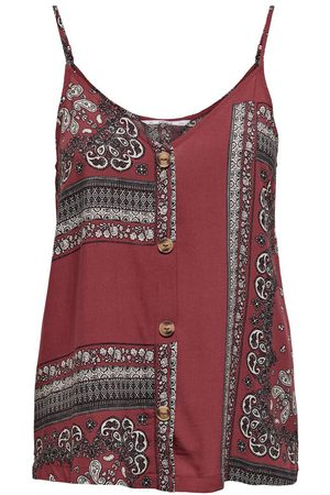 ONLY Dames Spaghettitops - Printed Cami Dames Rood
