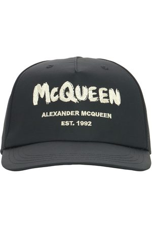 Alexander McQueen Graffiti Logo Nylon Baseball Cap