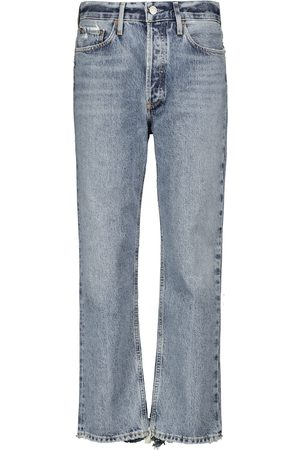 AGOLDE Lana mid-rise straight cropped jeans
