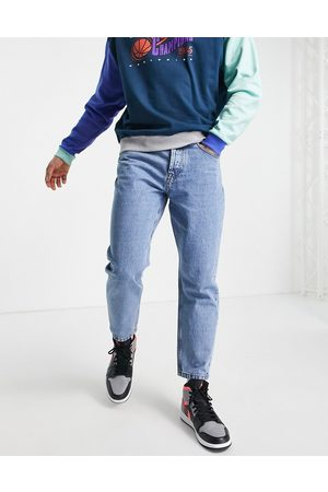 Only & Sons Regular tapered crop jeans in blue