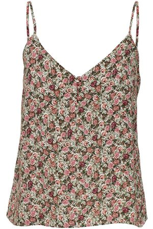 ONLY Dames Spaghettitops - Printed Cami Dames Beige