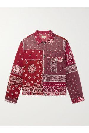 KAPITAL Heren Donsjassen - Patchwork Bandana-Print Cotton Jacket