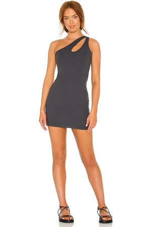 MONROW Cut Out One Shoulder Dress in