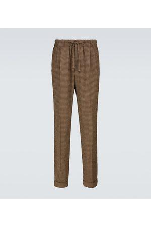 Nanushka Nile checked drawstring pants