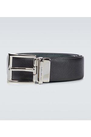 Prada Heren Riemen - Reversible Saffiano leather belt