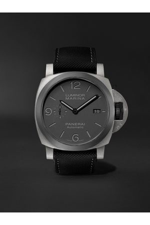 PANERAI Heren Horloges - Luminor Marina TuttoGrigio Automatic 44mm Titanium and Sportech Watch, Ref. No. PAM01662