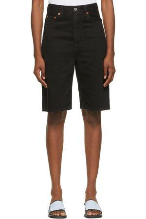Levi's Black High Loose Bermuda Shorts