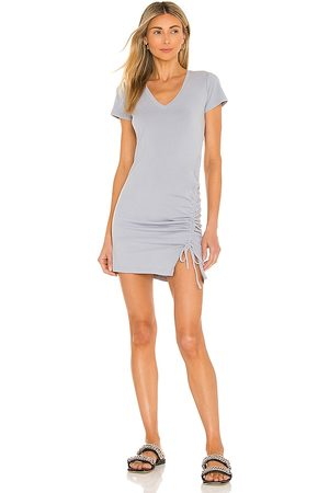 MONROW Shirred Front Mini Dress in