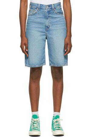 Levi's Blue High Loose Bermuda Shorts