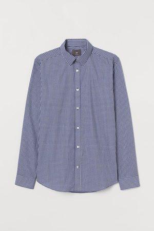 H&M Heren Overhemden - Easy Iron-overhemd - Slim Fit