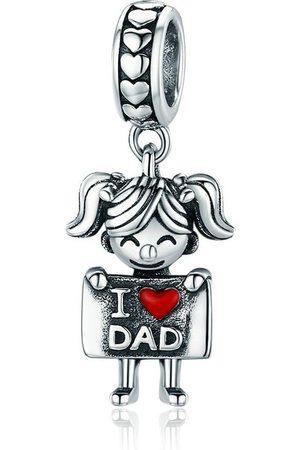 Mijn bedels Hangende bedel meisje houdt van vader
