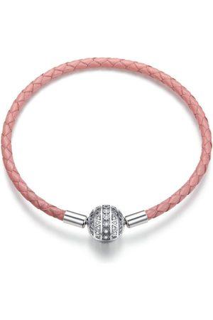 Mijn bedels Meisjes Armbanden - Gevlochten lederen bedelarmband meisjesachtig