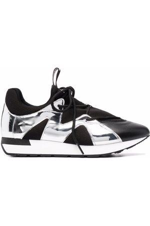 Pollini Metallic-panel sneakers