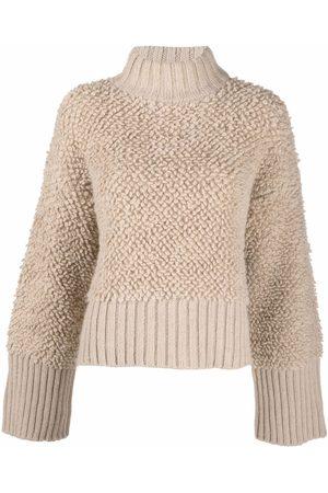 The Attico Textured high-neck jumper