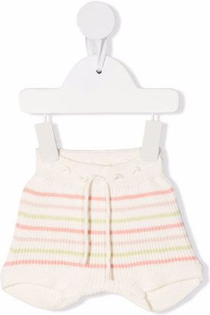 KNOT Shorts - Striped ribbed-knit bloomers