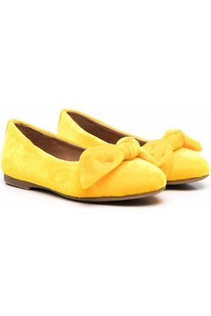 Age of Innocence Poppy velvet ballerina shoes