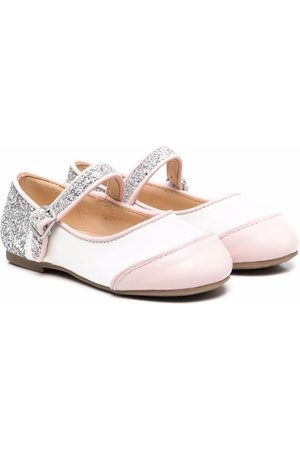Age of Innocence Carrie panelled ballerina shoes