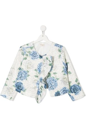 MONNALISA TEEN floral print jacket