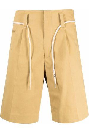 Marni Drawstring-waist cotton shorts