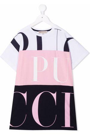 Emilio Pucci Meisjes Casual jurken - Colour-block logo T-shirt dress