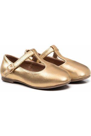 Age of Innocence Abigail metallic-effect ballerina shoes
