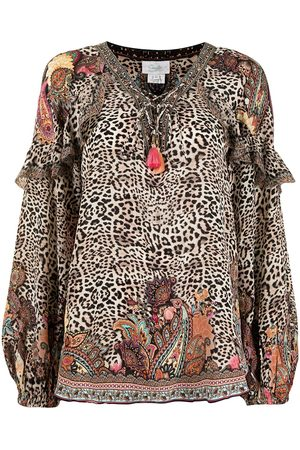 Camilla Meisjes Blouses - Wild Child leopard-print blouse