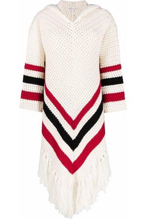 RED Valentino Dames Gebreide truien - Chevron-knitted hooded jumper